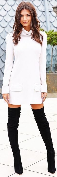 Simone Tajmer White Chic Little Dress Fall Inspo