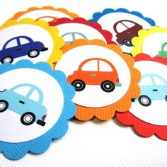 Car Favor Tags Transportation Birthday