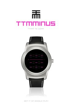 TTMMINUS to Wear. Sci-fi watch face for #AndroidWear