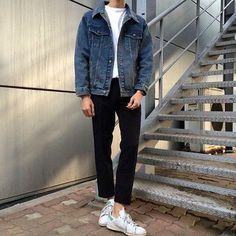 Back 2 Basics Outfits Hombre, Boy Outfits, Casual Outfits, Cute Outfits, Men Casual, Fashion Outfits, Aesthetic Fashion, Urban Fashion, Korean Fashion Men