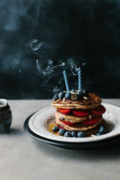 chocolate chip pancakes - vegan, dairy free & egg free