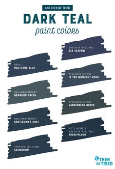 Choosing a dark teal paint color for exterior siding.