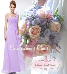 BNWT ELODIE Lilac Corsage Chiffon Maxi Prom Evening Bridesmaid Dress UK 6 -18