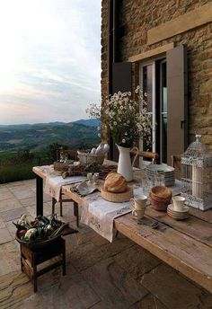 How To Enhance Your Rustic Home Decorating Theme? – Rustic Home Decor Outdoor Spaces, Outdoor Living, Outdoor Decor, Interior Exterior, Exterior Design, Deco Champetre, Northern Italy, House Goals, Architecture