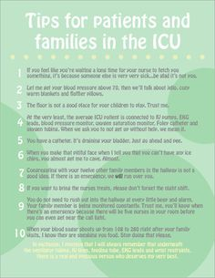 tips for patients and family