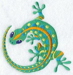 Caribbean Lagarto Lizard Gecko Embroidered Flour Sack Hand Towel. $13.99, via Etsy.