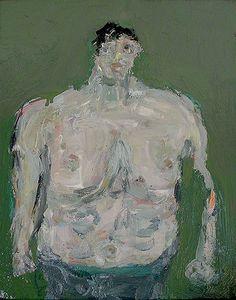 Farrell Brickhouse - Big Bather Bernard, 2011 oil on canvas, 14″ x 11″