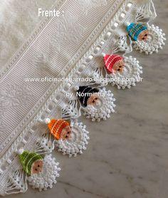 18 Ideas For Crochet Shawl Edging Link Crochet Borders, Crochet Motif, Crochet Shawl, Crochet Doilies, Crochet Flowers, Free Crochet, Crochet Christmas Ornaments, Holiday Crochet, Christmas Angels