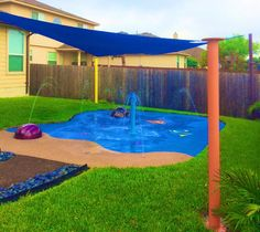Home backyard splash pad by My Splash Pad