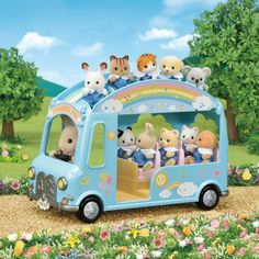 Superb Sylvanian Families Sunshine Nursery Bus Now at Smyths Toys UK. Shop for Sylvanian Families At Great Prices.✔️Click & Collect Within 1 Hour!✔️Free Home Delivery for Account Holders Sylvanian Families, Calico Critters Families, 4 Year Old Girl, Baby Pool, Adventure Nursery, Der Bus, Toys Uk, Wheels On The Bus, Nursery School