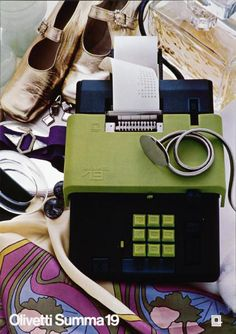 Walter Balmer, poster design for calculator Summa 19, 1970. Design: Ettore Sottsass. For Olivetti, Italy.