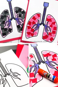 Lung Craft For Kids This simple human body activity for kids is a fun printable craft for young children in preschool and kindergarten. Perfect for homeschooling or for using in the classroom and it comes with a free printable template. Human Body Crafts, Human Body Activities, Human Body Art, Body Preschool, Free Preschool, Preschool Crafts, Kindergarten Activities, Preschool Activities, Printable Crafts