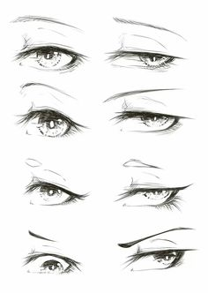 Pin by lauren garrity on drawings art sketches, manga eyes, anime art. Eye Drawing Tutorials, Drawing Tips, Drawing Techniques, Art Drawings Sketches Simple, Sketches Of Eyes, Drawings Of Eyes, Pencil Drawings, Pencil Sketching, Sketching Tips