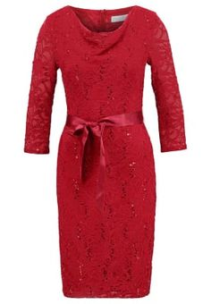 Cocktailkjole - red Dresses For Work, Dresses With Sleeves, Mode Online, Elegant, Long Sleeve, Red, Fashion, Ball Gown, Moda