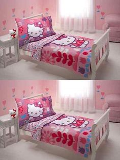 Bed Skirts 66726 Toddler Bedding Set Hello Kitty Bedspread Quilt Comforter Sheet Pillowcase