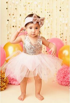 4b27d5fce6d14 Girl first birthday outfit gold and pink pink tutu outfit birthday outfit  2nd birthday outfit 1st birthday outfit first birthday girl
