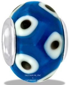 Da Vinci Beads Art Glass Blue Dot