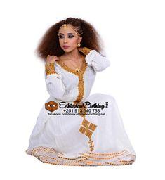 Habesha traditional dress #zuria #habeshadress #kemis  Handwoven fabric Hand embroidered