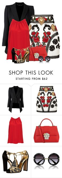 """""""Dolce & Gabbana Skirt"""" by barbarapoole ❤ liked on Polyvore featuring Alexander McQueen, Dolce&Gabbana and DailyLook"""