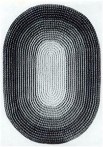 Crochet Oval Rug