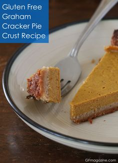Simple to make Gluten Free graham cracker style pie crust recipe.