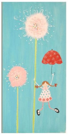 Adorable art for a girl's room!