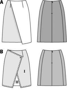 Выкройки юбок с запахом бесплатно бурда