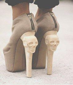 Skulls Heels,Emily Ovalle: skull heels #Lockerz