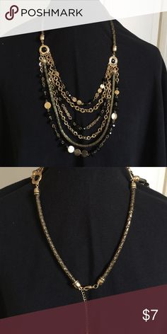 Spotted while shopping on Poshmark: Black & gold necklace! #poshmark #fashion #shopping #style #not sure #Jewelry