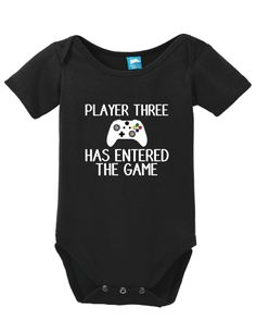 Player three has entered the game Onesie Funny Bodysuit Baby Romper #HusbandPregnancyAnnouncement