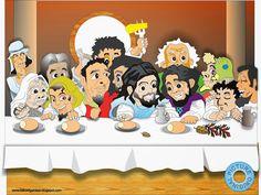perjamuan kudus ~ GALERI ILLUSTRATOR SURABAYA Jesus Wallpaper, Last Supper, Surabaya, Design Art, Christ, Family Guy, Illustration, Passion, Fictional Characters