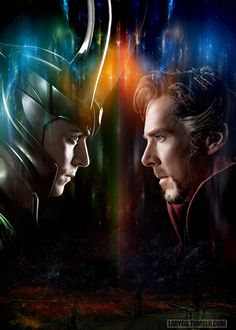"""Loki vs Doctor Strange "" *I've done this one before but finally a manip with official images!"