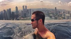 Selfie on the edge of the Marina Bay Sands Infinity Pool in Singapore... #asia #travel #skyscraper #pool #singapore #hotel #selfie #pool