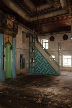 Kızılcabölük Hanönü Camii/mosque mihrab and mimbar