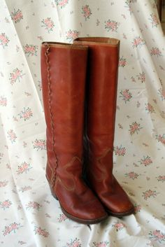 vintage riding boots.