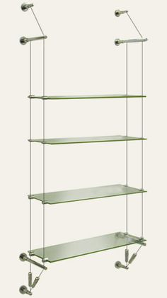 cable rod suspended glass shelving kits ideal for displaying rh pinterest com cable suspended garage shelves steel cable suspended shelves