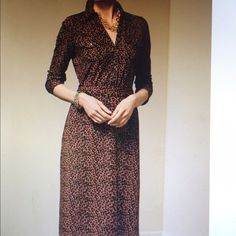 Talbots leopard wrap dress Talbots leopard wrap dress.  Only worn a few times.  Excellent condition.  Super comfortable! Talbots Dresses