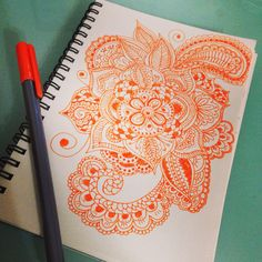 #doodle #zentangle #mandala just free your mind