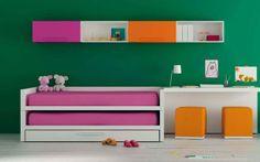 pink kids bed