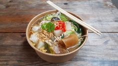 Thai Chicken Noodle Soup - Street Food Storms Pakhus Denmark [4032x2268]