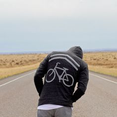 Mens sweatshirt   unisex hoodie - bike sharrows print on lightweight jersey blend hoodie  - father's day gift   for men - Share the Road