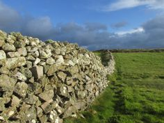 Ireland dry stone walls. Creevy, County Donegal.