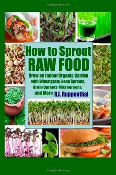 How to Sprout Raw Food: Grow an Indoor Organic Garden with Wheatgrass, Bean Sprouts, Grain Sprouts, Microgreens, and More - http://goodvibeorganics.com/how-to-sprout-raw-food-grow-an-indoor-organic-garden-with-wheatgrass-bean-sprouts-grain-sprouts-microgreens-and-more/