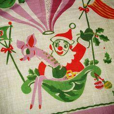 Vintage Carl Tait Linen Handkerchief