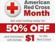 "HostGator Red Cross Promo: Get 50% Off on Hosting & Domains at $4 - 24 Hours Only Hostgator will be ""donating $1"" for every new customer sign up during our 24 hour American Red Cross promotion!"