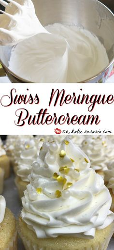 How to Make Swiss Meringue Buttercream! It is so easy to make. This is my go to frosting recipe for cakes and cupcakes! Check it out! My Secret Vanilla Bean Paste