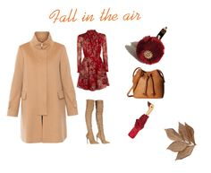 """""""Camel coat for fall"""" by girlwiththesneakers ❤ liked on Polyvore featuring Les Copains, Roberto Cavalli, Denim & Supply by Ralph Lauren, Topshop, ECCO, Bliss Studio and camelcoat"""