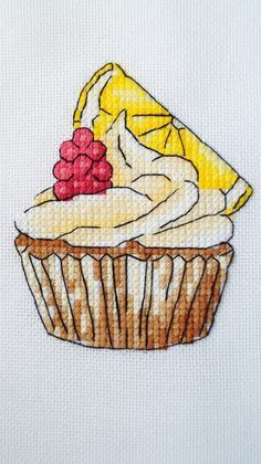 Вкусные схемы для вышивки крестом от Александры | ВКонтакте Cupcake Cross Stitch, Mini Cross Stitch, Cross Stitch Needles, Cross Stitch Cards, Cross Stitching, Embroidery Hoop Art, Cross Stitch Embroidery, Embroidery Patterns, Cross Stitch Patterns