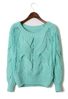 cable knit in mint