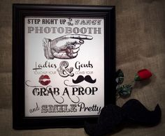 Fancy Photo Booth Printable Instant Download by APlumHoot on Etsy, $10.00